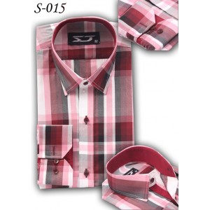 S&J Brown/white Check Shirt