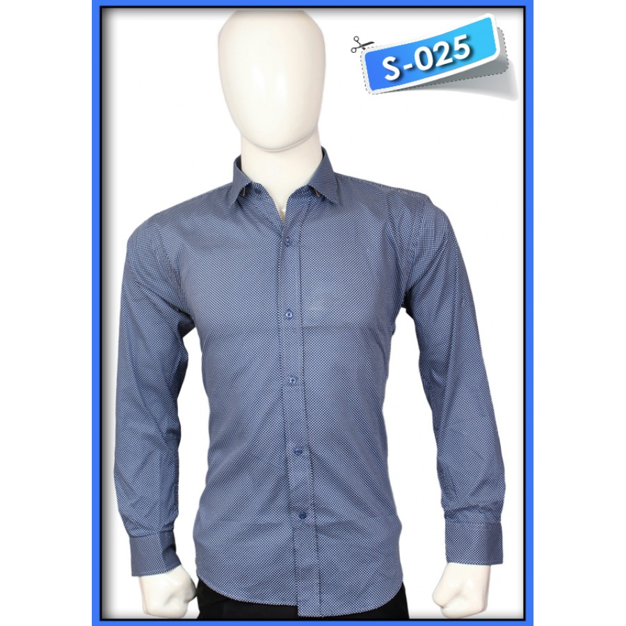 S&J Dark Blue Dots  Shirt