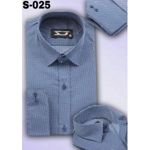 S&J Dark Blue Dots  Shirt