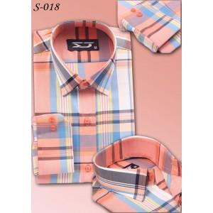 S&J Orange Check Shirt