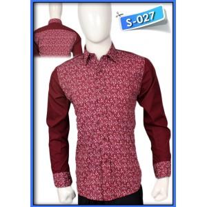 S&J White Flower Red Shirt