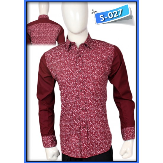 S&J White Flower Red Shirt