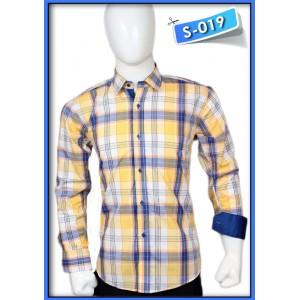 S&J Yellow/Blue Check Shirt