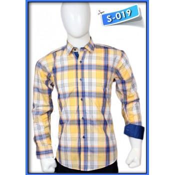 S&J Yellow/Blue Check Shirt