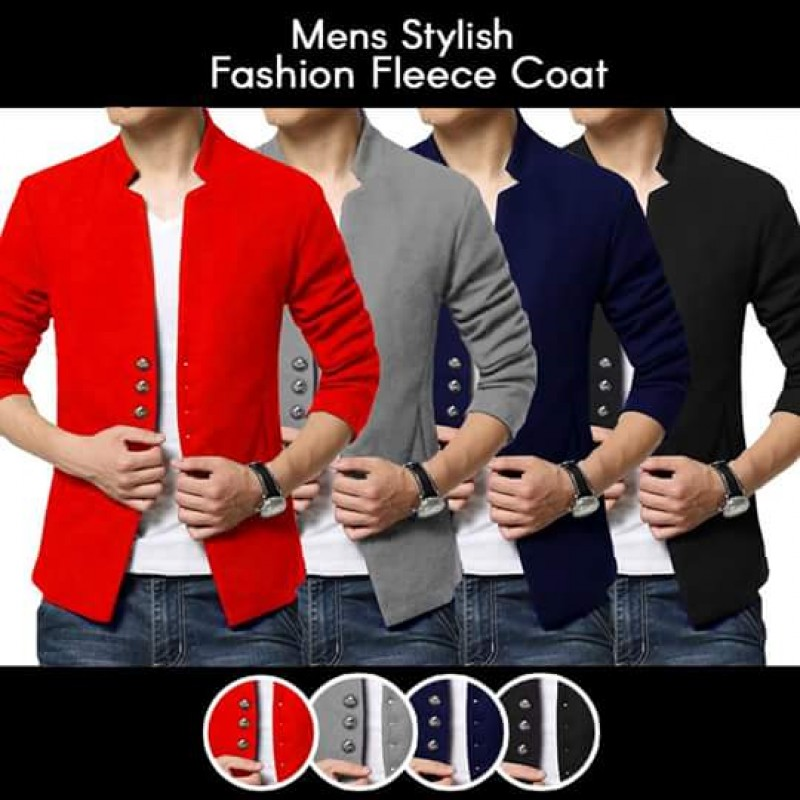 Mens Stylish Fashion Fleece Coat