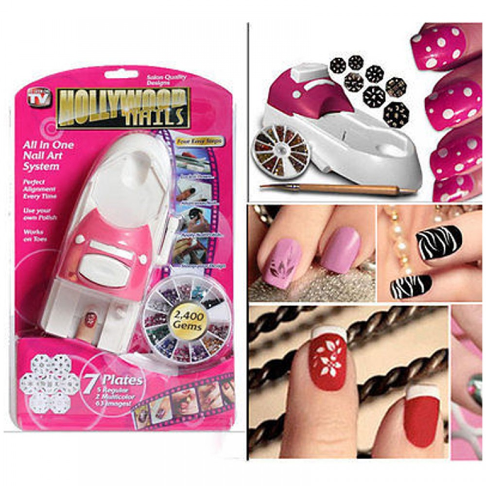 TV Products : Hollywood Nails - All In One Nail Art System