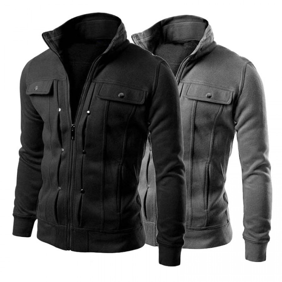 Mens Jackets Zipper Coats