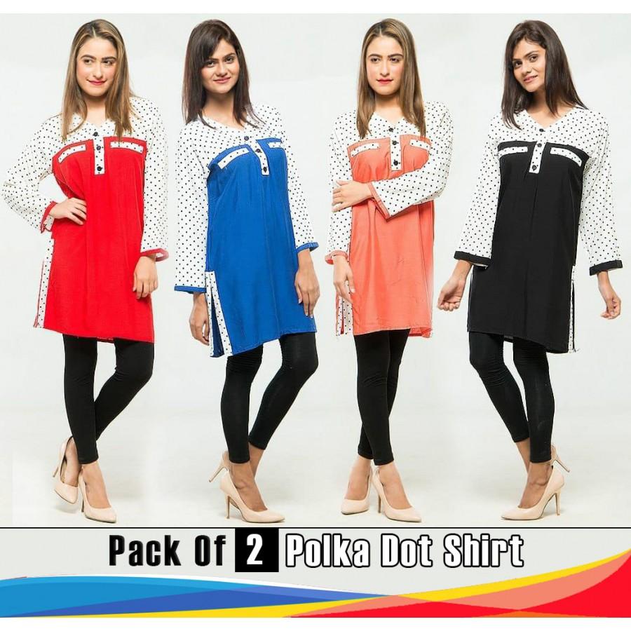 Pack Of 2 Polka Dot Shirt