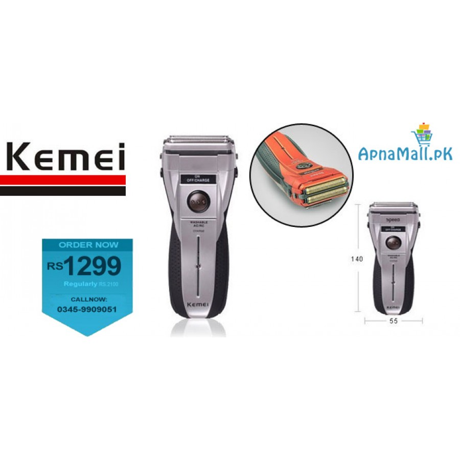 New Kemei Rechargeable Shaver (Washable)