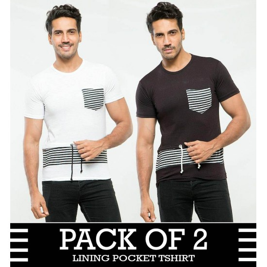 Pack of 2 Lining pocket tshirt