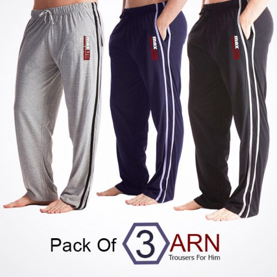 Pack Of 3 Max Trousers For Him