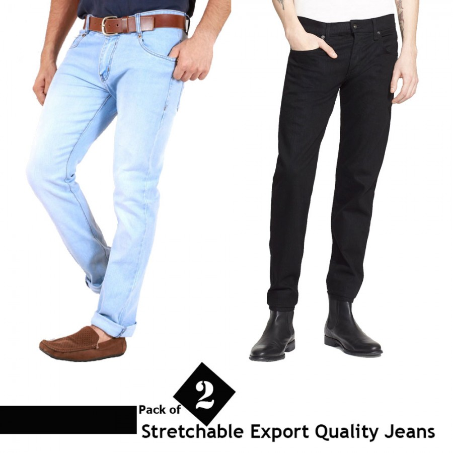 Pack of 2 Stretchable Denim Jeans