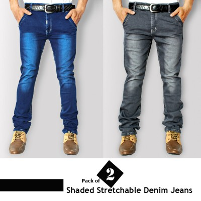 Pack of 2 Stretchable Shaded Denim Jeans