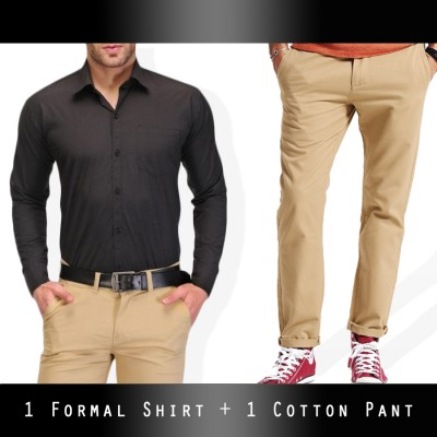 1 Cotton pant + 1 Formal Shirt