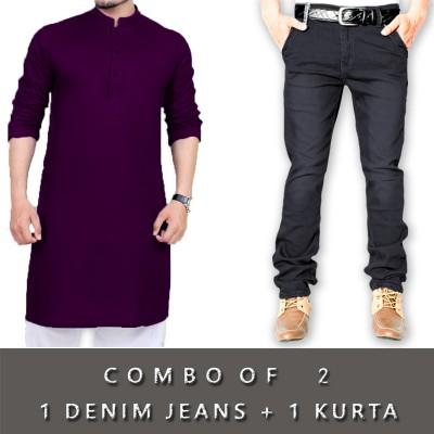 1 Denim Jeans + 1 Kurta