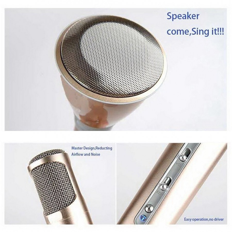 Wireless Karaoke Microphones with Bluetooth Speaker