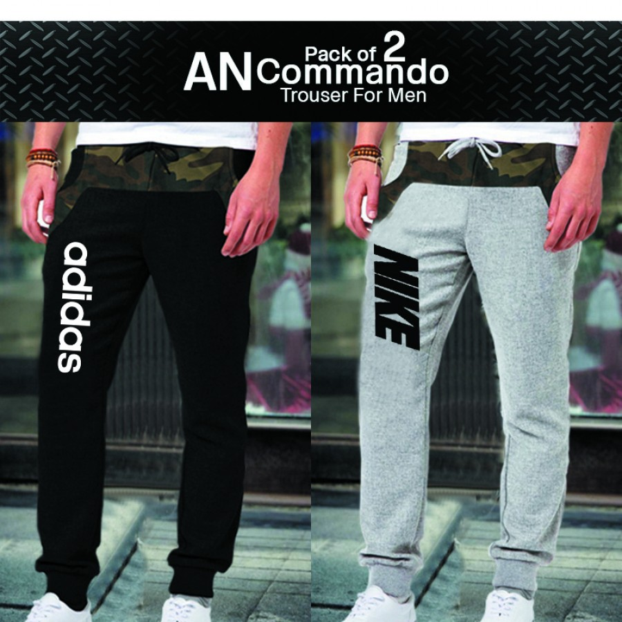 Pack of 2 AN Commando Trouser for Men
