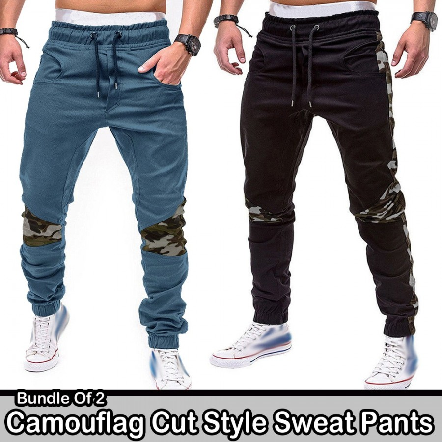 Bundle of 2 Camouflag Cut Style Sweat pants