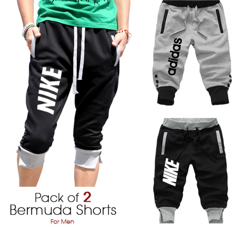 Men's Trousers / Bottoms / Pants : 2 High Quality Branded Cargo Shorts