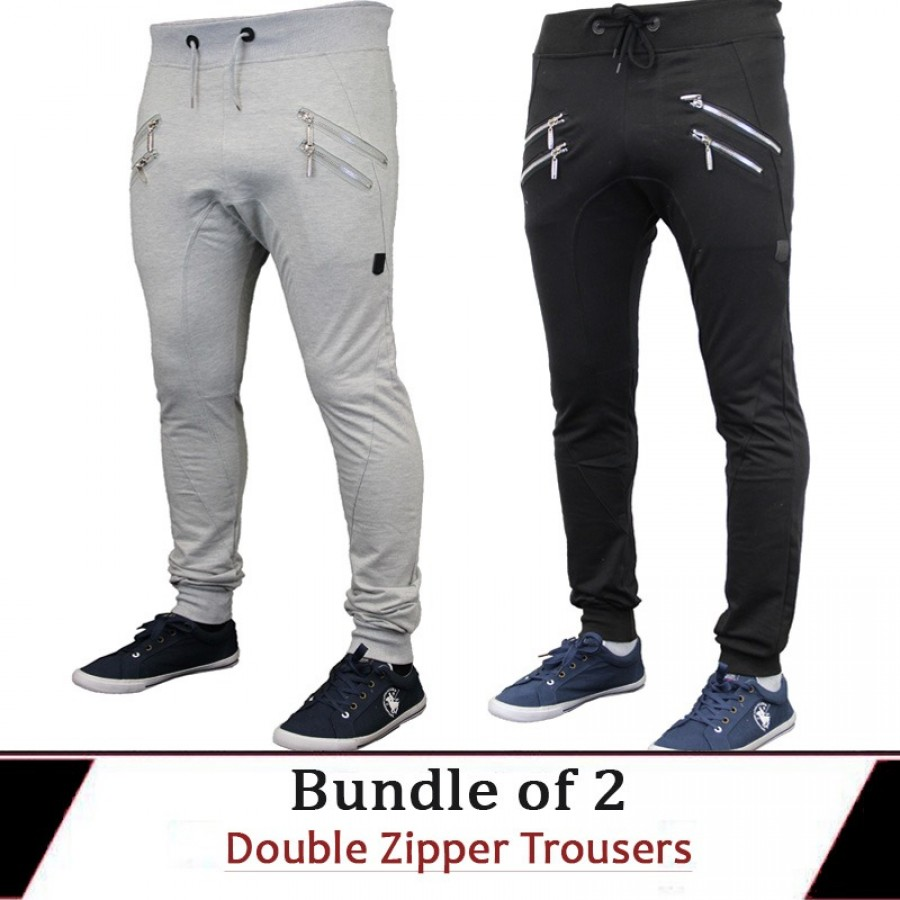 Bundle of 2 Double Zipper Trousers