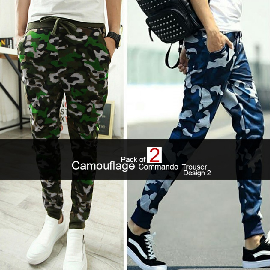 Pack of 2 Camouflage Commando Trouser Design 2