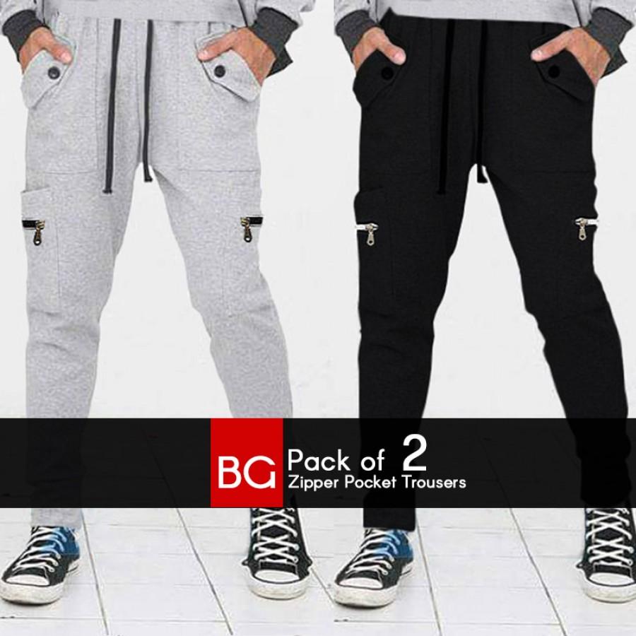 Pack of 2 BG Zipper Pocket Trousers