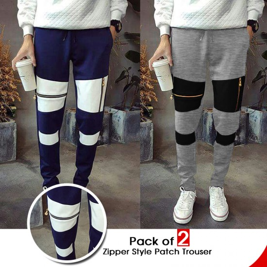 Pack of 2 Zipper Style Patch Trouser