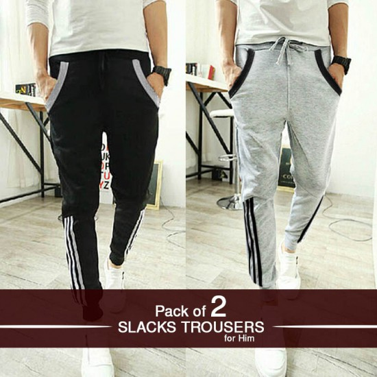 Pack of 2 Slacks Trousers for Him