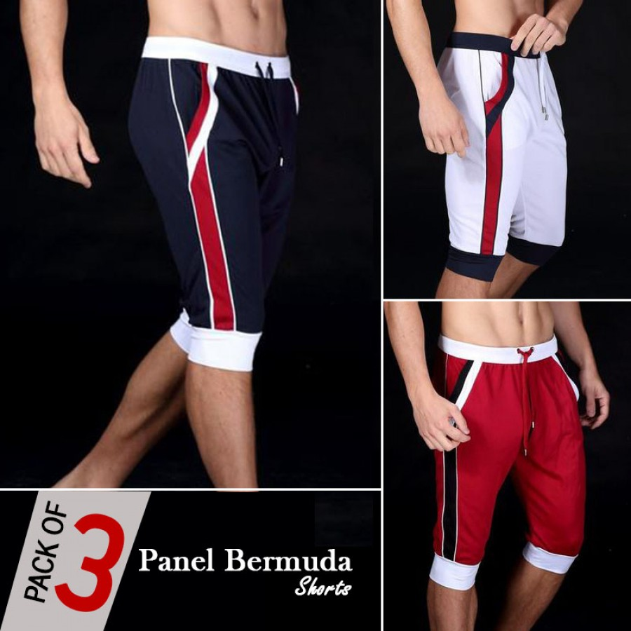 Pack of 3 Panel Bermuda Shorts