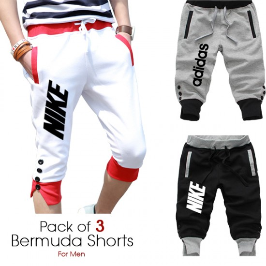 Pack of 3 Bermuda Shorts for Men