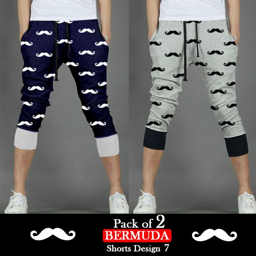 Pack of 2 Bermuda Shorts Design 7