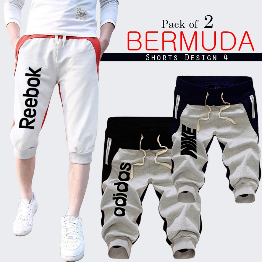 Pack of 2 Bermuda Shorts Design 4