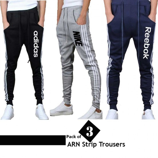 Pack of 3 ARN Strip Trousers for men