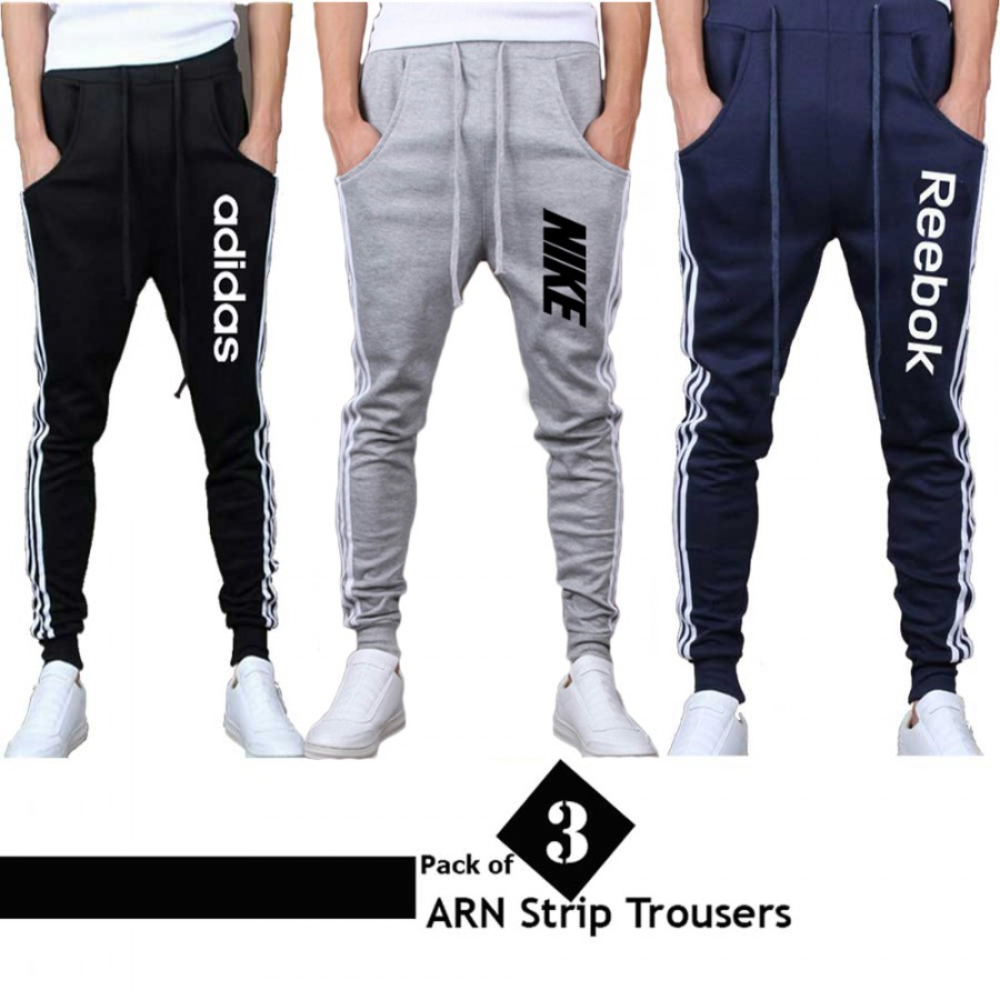 Pack of 3 ARN Strip Trousers For Men