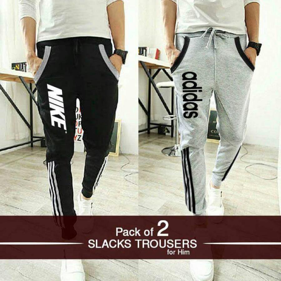 Pack of 2 Slacks Trousers For Him