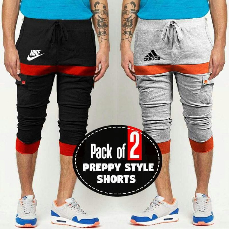Pack of 2 PREPPY STYLE SHORTS