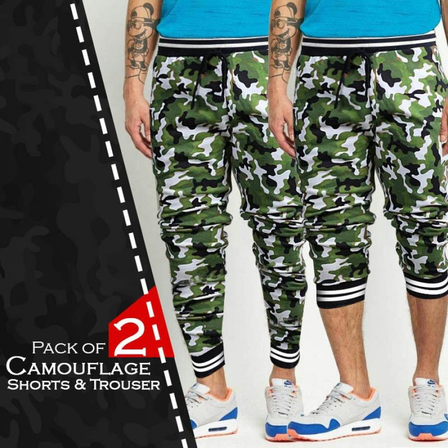 Pack of 2 CAMOUFLAGE Shorts & Trousers