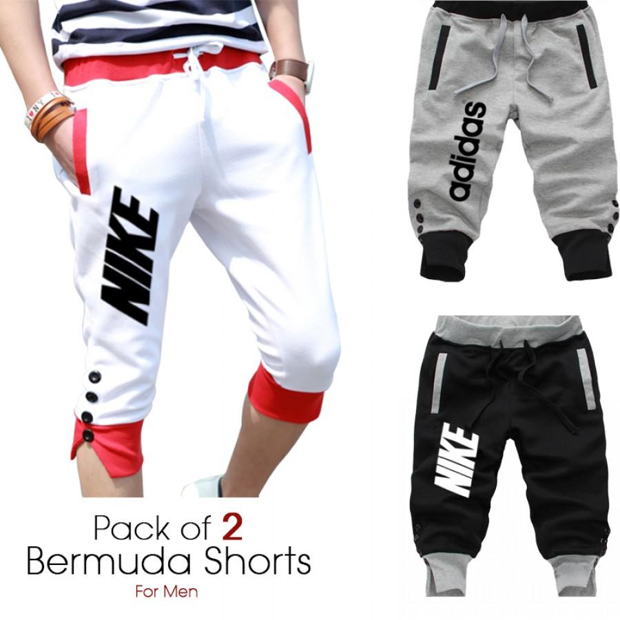 Pack of 2 Bermuda Shorts for Men