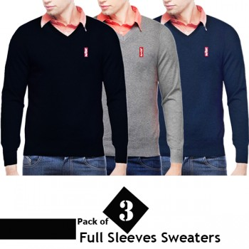 Pack of 3 Levis Full Sleeves Sweaters
