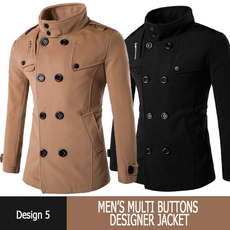 Multi Buttons Designer Jacket Design 5