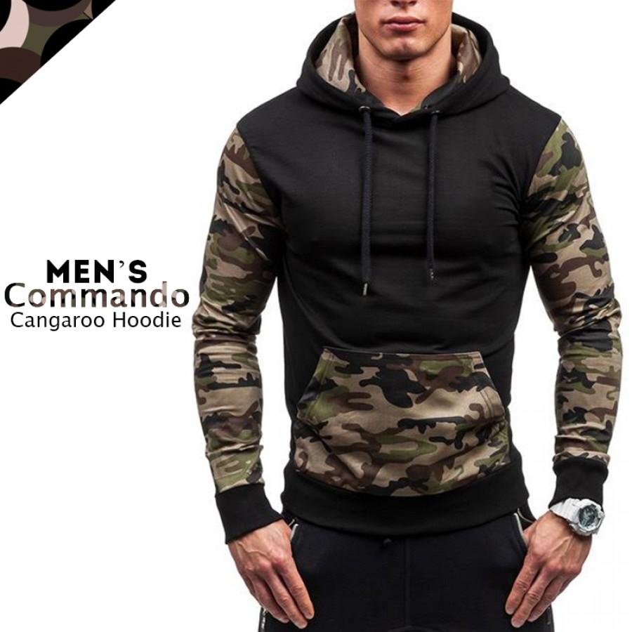 Mens Commando Cangaroo Hoodie