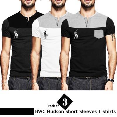 Pack of 3 Hudson Branded Short Sleeves Pocket T Shirt