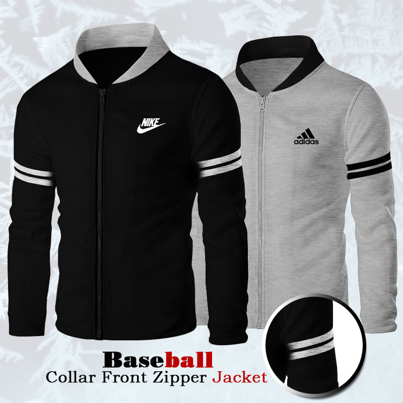 Pack of 2 Baseball Collar Front Zipper Jacket