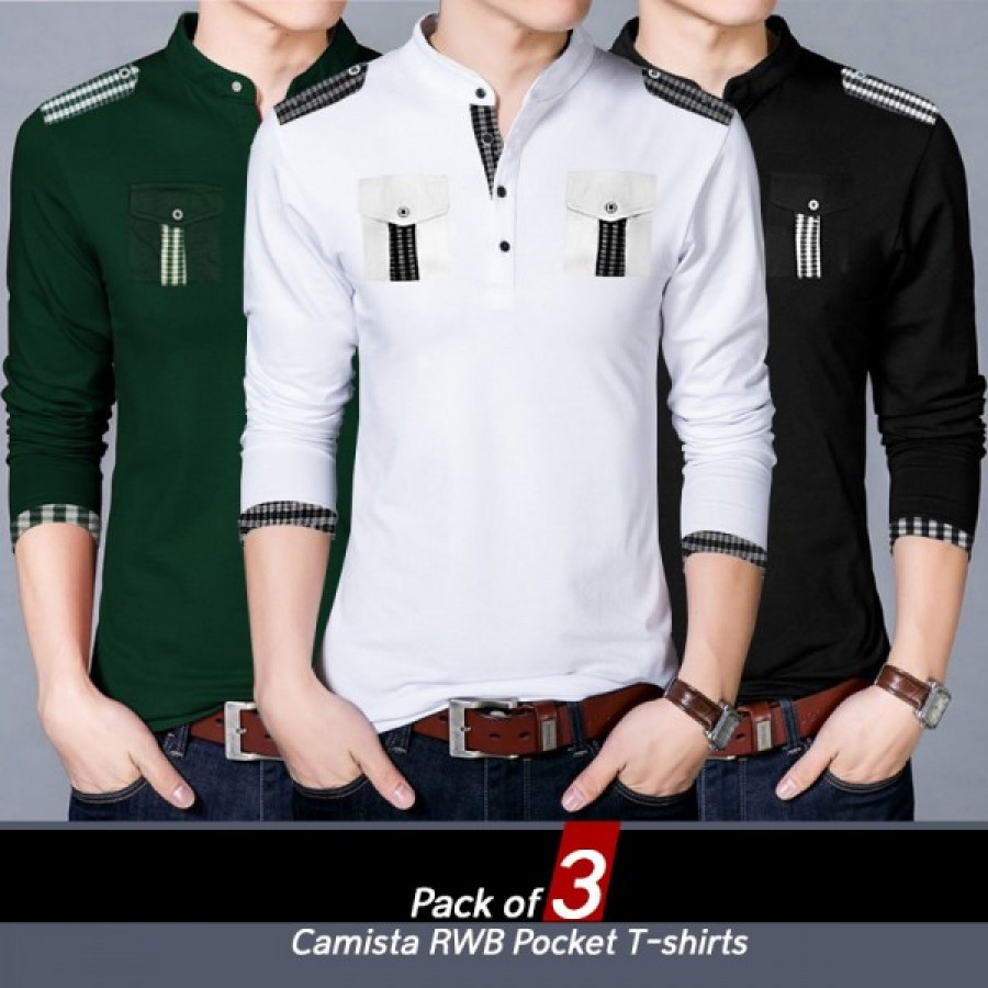 Pack of 3 Camista RWB Pocket T-shirts