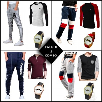 Combo of 3 ( 1 Shirt , 1 Watch , 1 Trouser) for Rs 999