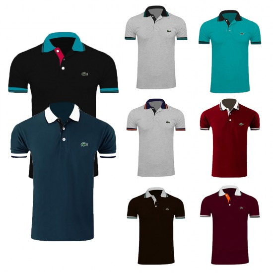 Pack of 3 Lacoste Polo T-shirts Design 12