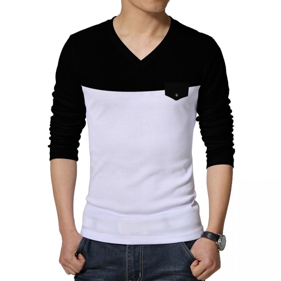 Pack of 3 V-Neck full Sleeve Pocket T-shirt