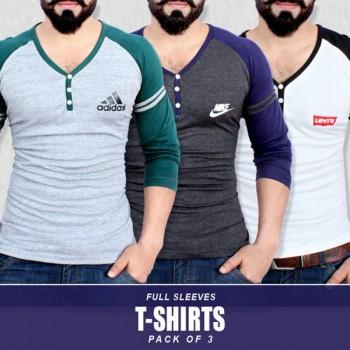 Pack of 3 New Raglan V Neck T-shirt