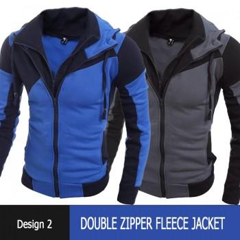 Double Zipper Fleece Jacket Design 2