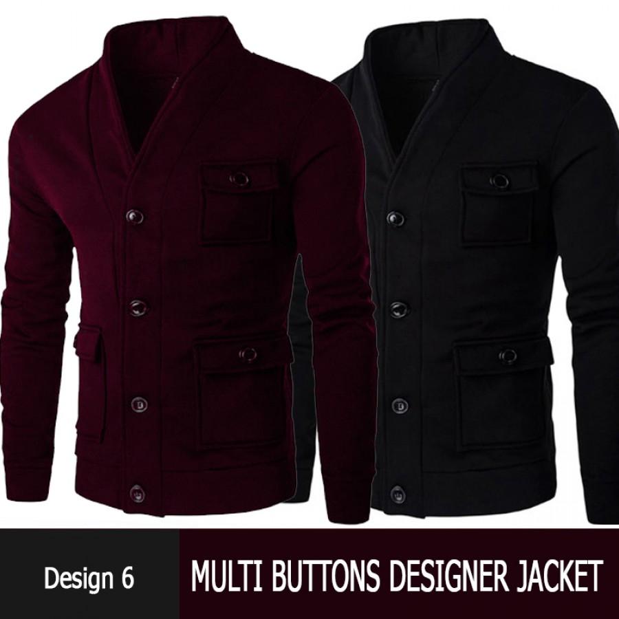 Multi Buttons Designer Jacket Design 6